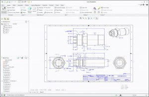 CREO CAD Drawing Reverse Engineering